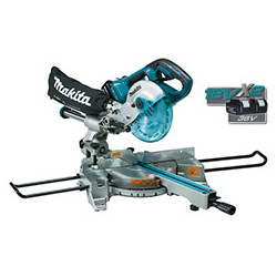 Li-Ion Slide Compound MITRE SAW / 190mm Saw Blade Diameter / Electric Brake / Soft Start / 5,700 r/min / 1,200W  / Powered by 2