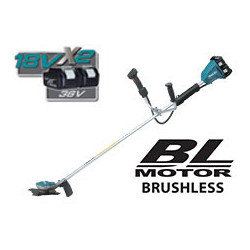 Cordless Li-Ion String Trimmer / Off set handle bar design / multi functional control panel / Soft start / 3 speeds: 3,500/5,30