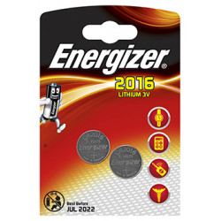 ENERGIZER CR2016BS1 3V LITHIUM COIN BATTERY (2 PACK) (MOQ 12)