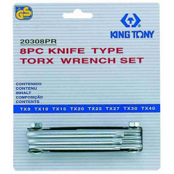 TORX KEY KNIFE TYPE T9- T40 8PC
