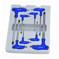 ALLEN KEY SET 8PC L HANDLE BALL POINT 2-10MM