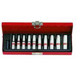 SOCKET SET 1/4``DR IMPERIAL DEEP 5/32``-1/2``