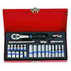 SOCKET SET 1/4``DR STD AND DEEP 4-13MM 26PC
