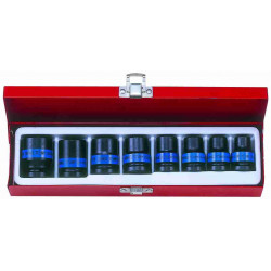 SOCKET SET 8PC 1/2``DR STANDARD IMPACT 10-24MM 6P