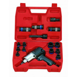 PNUEMATIC IMPACT WRENCH SET 1/2``DR 21PC
