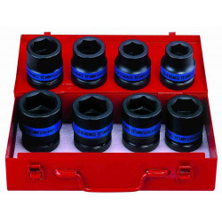 SOCKET SET 8PC 1``DR IMPACT 24-41MM 6P