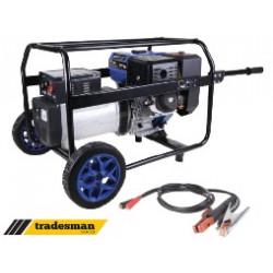 Gentech Power 6.5kVA 210 Amp Contractor Design Recoil Start Welder Generator with Wheels & Handles